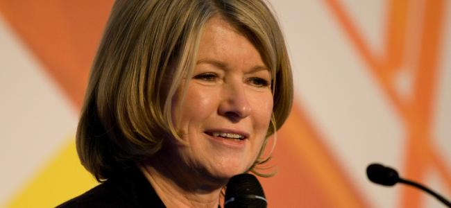 An image of Martha Stewart is shown.