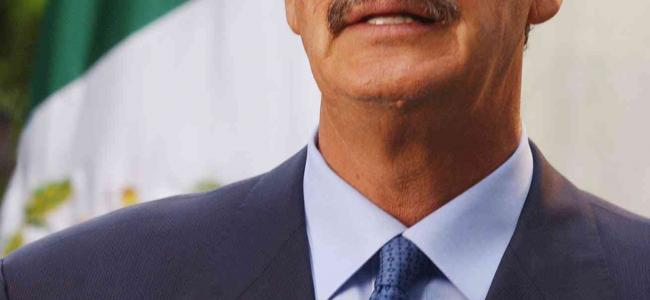 An image of former Mexico president, Vicente Fox, is shown.