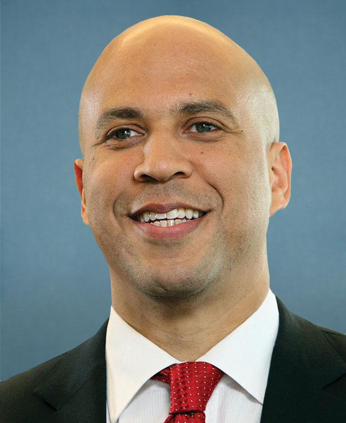 An image of Senator Cory Booker is shown.