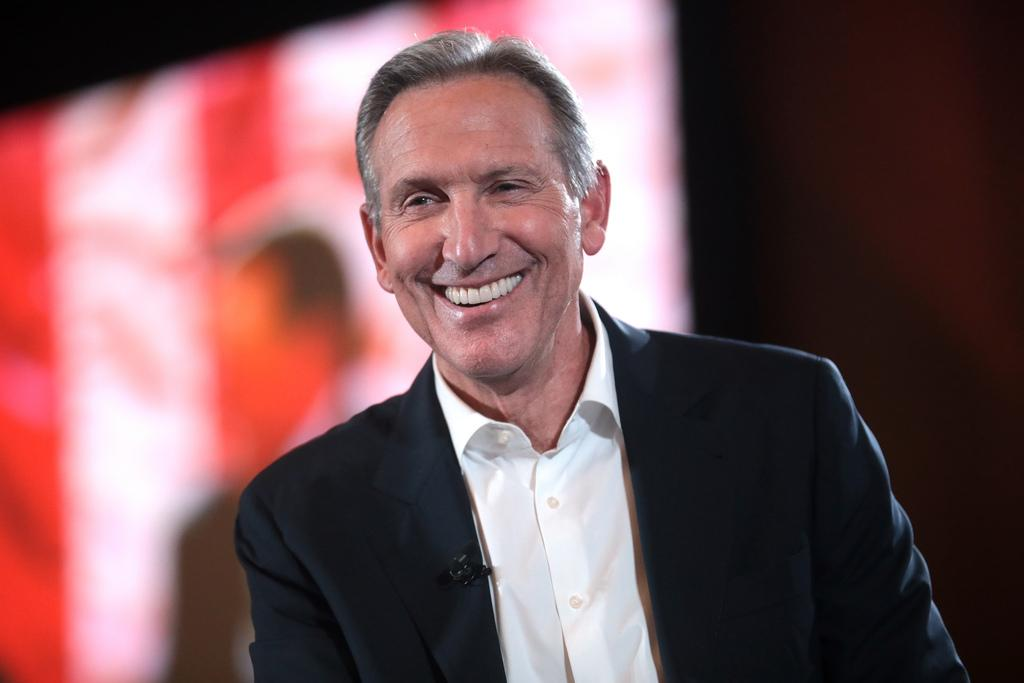 An image of former Starbucks' CEO Howard Schultz is shown.